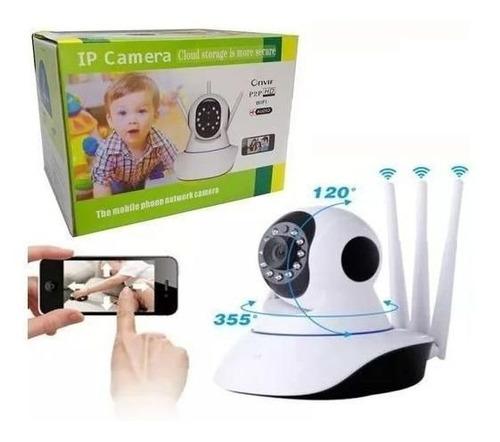 Camera Sem Fio Wiffi Ip Remota Com 3 Antenas Hd Audio P2p