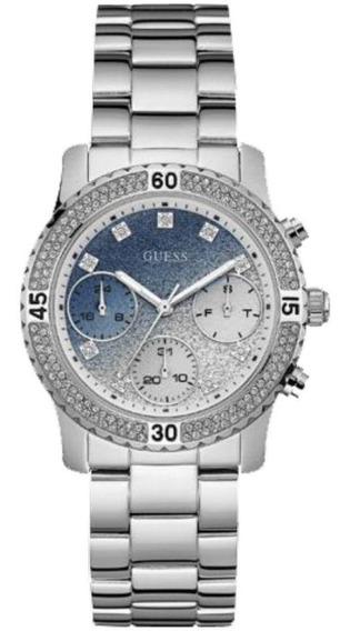 Relógio Feminino Guess Aço Prata Visor Degradê Cronógrafo