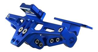 Colin Trasero Porta Patente Aluminio Rebatible Led Nsr Moto