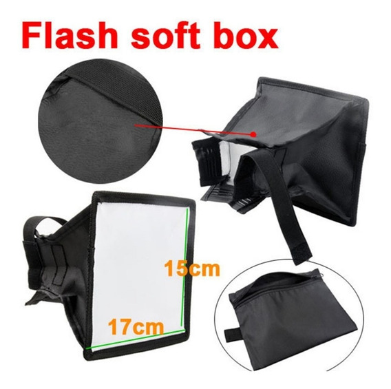 Difusor Flash Mini Softbox Universal Dobravel