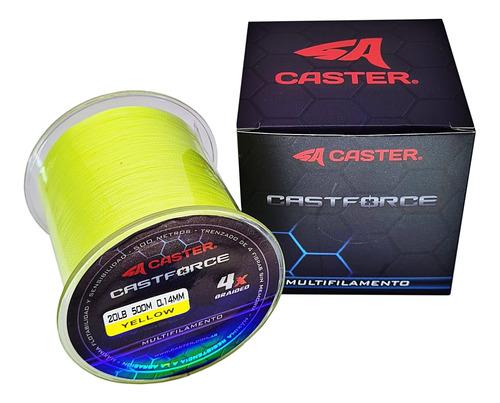 Multifilamento Caster Castforce 4x 0.16mm Bobina 500m