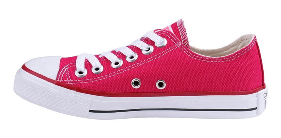 Tênis Converse All Star Cano Baixo Chuck Taylor Rosa Pink