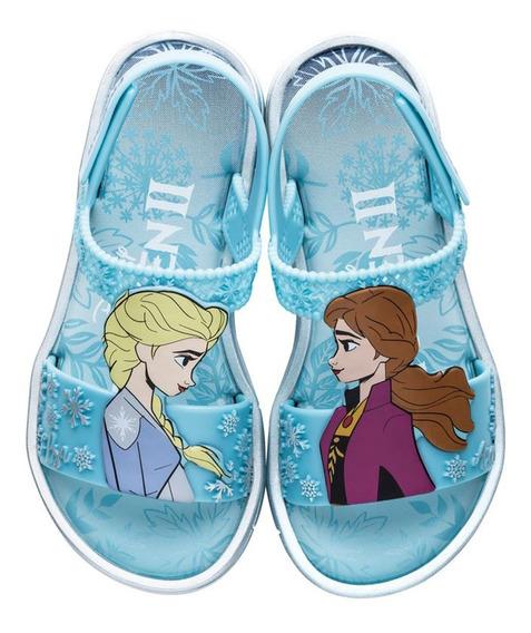 Sandalia Frozen Magia Elza Ana Disney Azul Tam 23 Ao 34