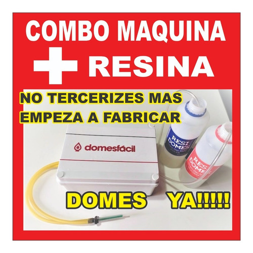 Domes Maquina Manual  (con Pico Mezclador)   Ver Video !!