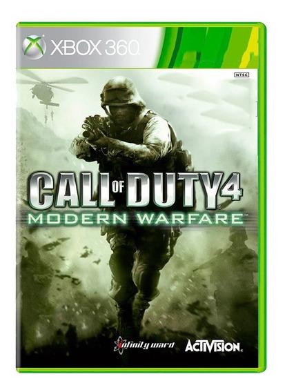 Call Of Duty 4 Modern Warfare - Xbox 360 - Usado - Original