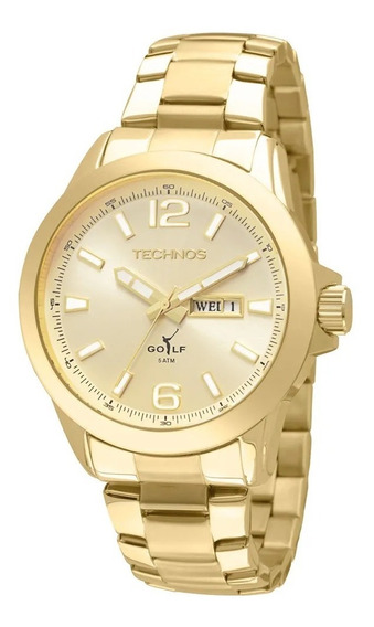 Relógio Technos Dourado Golf Masculino Analógico 2105au/4x