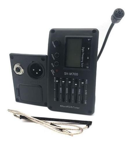 Ecualizador, Afinador, Preamp Para Guitarra Acustica Sv-m700