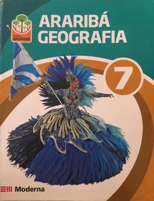 Kit Livros Arariba Geografia 7 + Guia Estudo 7