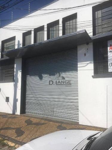 Imagem 1 de 5 de Barracão Para Alugar, 300 M² Por R$ 4.950,00/mês - Vila Industrial - Campinas/sp - Ba1095