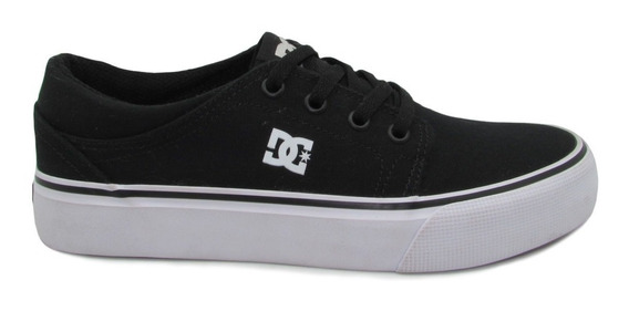 Tenis Dc Shoes Trase Tx Youth Adbs300083 Bkw Black White Ne