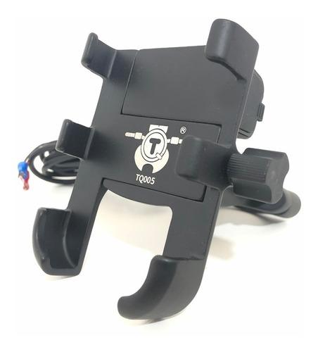 Suporte Celular Alumínio Para Motos 360º Com Carregador Usb!