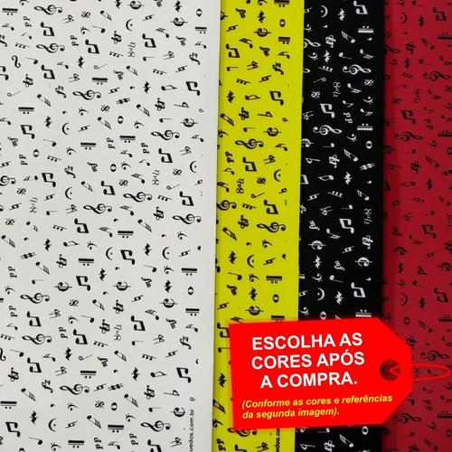 Folha De Eva Estampado Notas Musicais 40x60cm - 5 Unidades