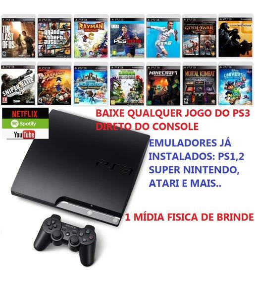 Playstation 3 Desbloqueado Loja Instalada, Apps E Emuladores