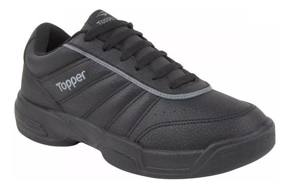 Zapatillas Topper Tenis Tie Break Hombre - Negro
