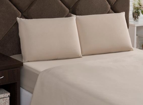 Kit C/ 3 Lençol Com Elástico Solteiro, Hotel, Quartos