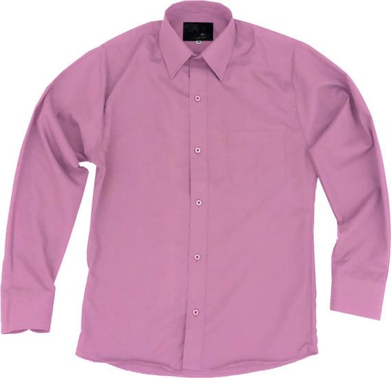 Camisa De Vestir Para Adulto Palo De Rosa 34 A 42