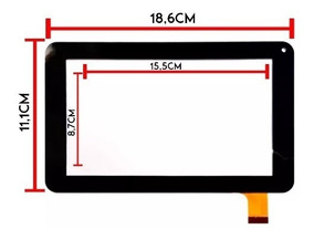 Tela Touch Tablet Multilaser M7s Dual Core 8gb 7 Polegadas