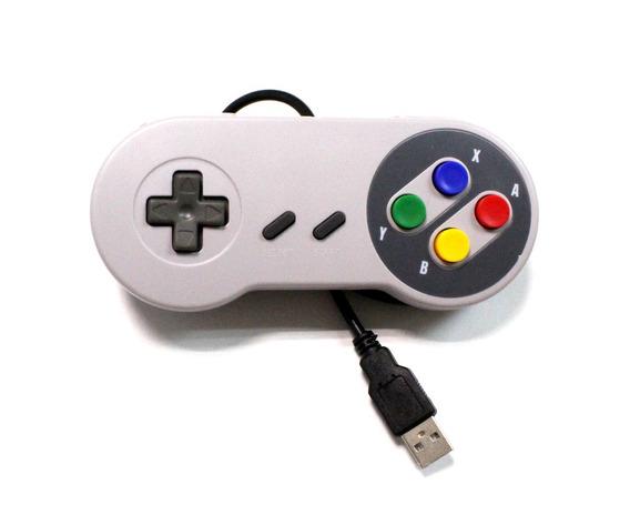 Kit 2 Controles De Super Nintendo Usb Snes Para Pc Mac Linux