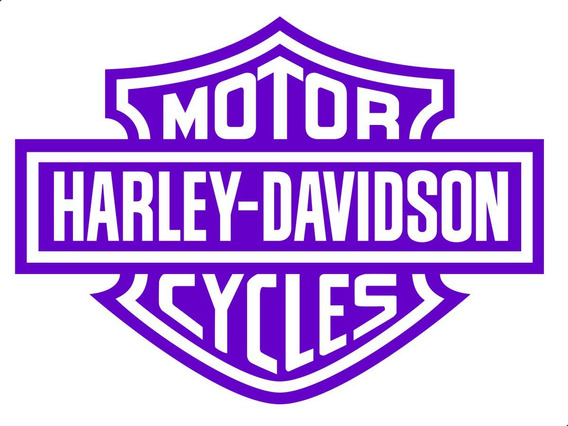 Adesivo Harley Davidson - 20 X 15 Cm - Várias Cores