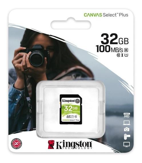 Cartão De Memória Kingston Canvas Sdhc 32gb 100mb/s Sds2/32g