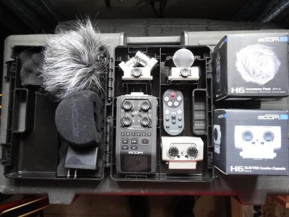 Zoom H6 - Grabadora Portátil De 6 Pistas Con Micrófonos