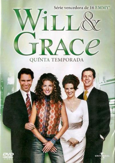 Will & Grace 5ª Temporada - Box Com 4 Dvds - Debra Messing