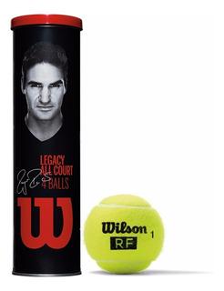 Pelota Tenis Wilson Roger Federer Legacy Rf Tubo X 4 Pelotas