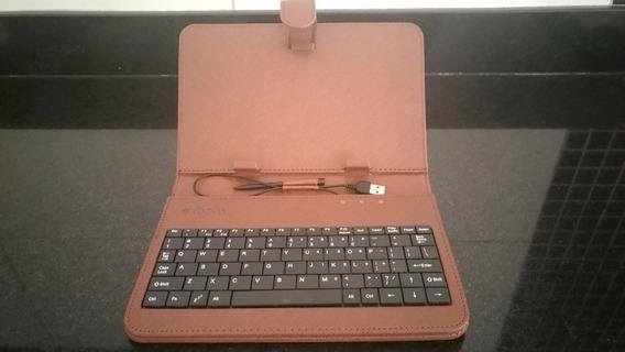 Case Capa De Couro Com Teclado Para Tablet