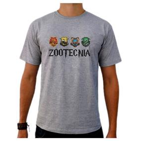 Camiseta Cinza Universitaria Curso Zootecnia Harry Potter 8