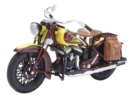 Moto Indian Sport Scout 1934 Escala 1:12 New Ray Colección