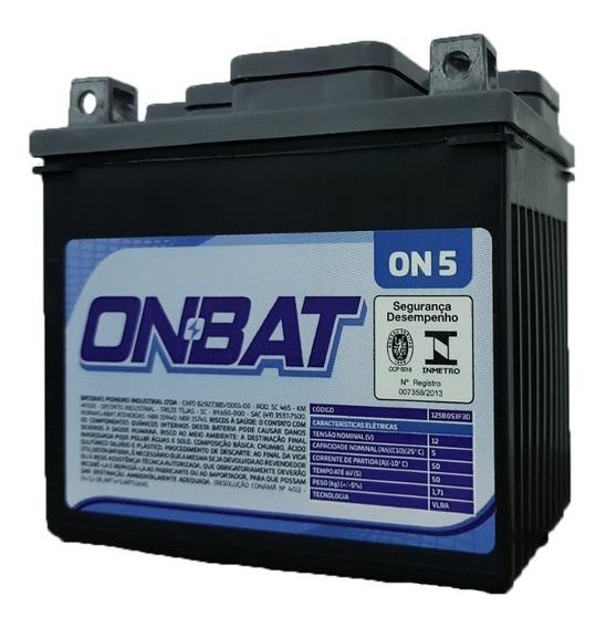 Bateria Moto 5ah Biz/fan/cg 125 150 Frete Gratis Onbat