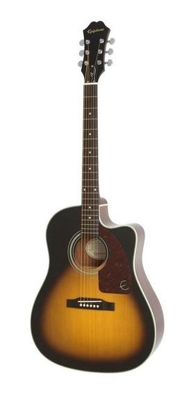 Guitarra electroacústica Epiphone AJ-210CE abeto vintage sunburst
