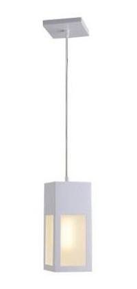 Luminária Pendente Alumínio Branco Quadrado 786 Lustre