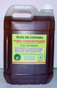 Óleo De Copaiba Puro, 05 Litros