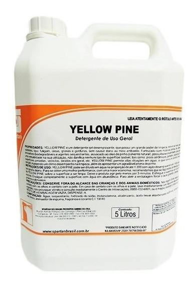 Detergente Desengraxante Neutro Yellow Pine 5 Lts - Spartan