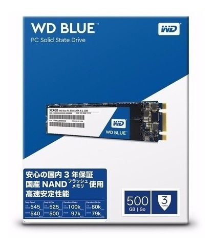 Hd Ssd Western Digital 500gb 500 Gb Sata3 2.5 Blue M.2 2280