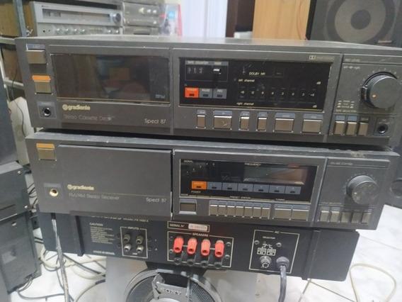 Receiver Gradiente Spect 87 + Tape Deck.Funcionando