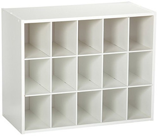 Closetmaid 8983 Organizador Apilable De 15 Unidades, Blanco