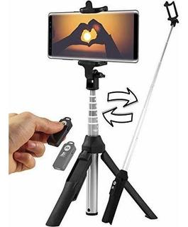 Trípode Bluetooth Selfie Stick - Compatible Con Todos Los Te