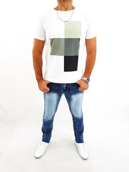 Calça Jeans Masculina Skinny Plus Size Elastano Do 36 Ao 62
