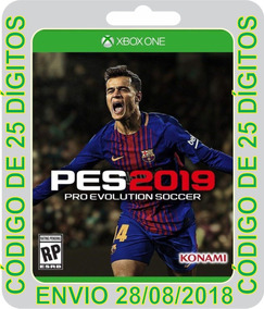 Pro Evolution Pes 2019 Xbox One Códigos 25 Dígitos