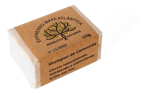 Shampoo Sólido Vegano De Camomila.natural E Orgânico. 125g