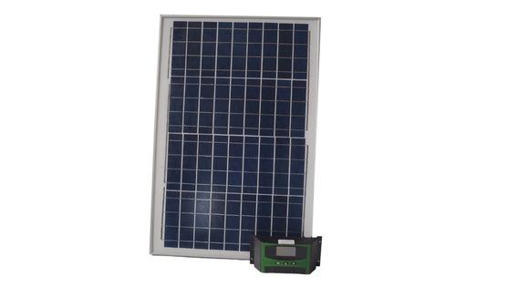 Kit Placa Painel Solar 50w + Controlador De Carga Solar 10a