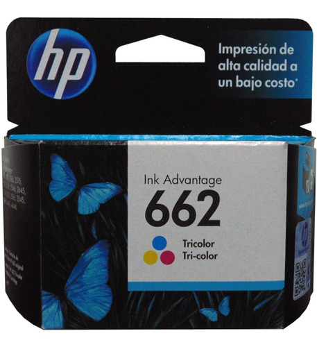 Cartucho Hp 662 Tricolor Cz104 Original Verificable Vigente