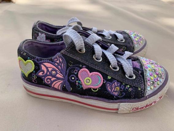 Zapatillas Originales Sckechers Con Luces!!! Número 28!!!