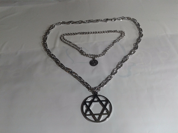 Judaísmo * Corrente + Medalha + 1 Conj. + Kipá Veludo 21 Cm
