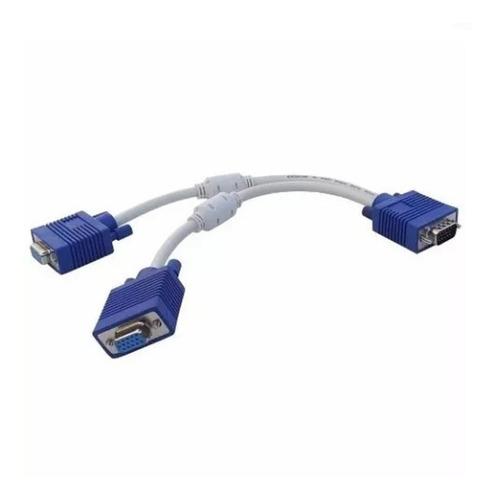 Cable Vga Splintter (1 Macho 2 Hembras)