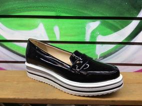 Trender Zapato Negro En Charol Plataforma Boullevard