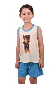 Pijama Infantil Masculino Short Camiseta Super Heroi Ref 165