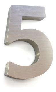 Números Residenciales® Para Casa 18cm 3d Alum. Inoxidable